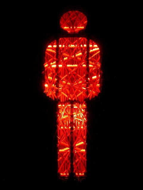 Semaforo pedonale rosso