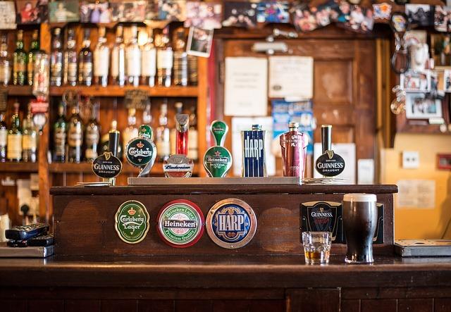 Spine dei pub in Irlanda