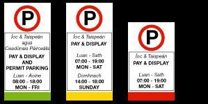 Segnaletica parcheggi a Dublino - Dublino Facile