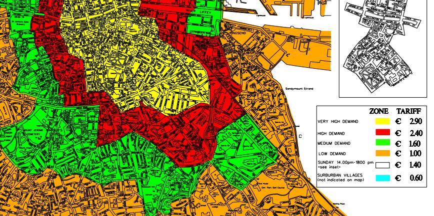 Zone parcheggi di Dublino - Dublino Facile